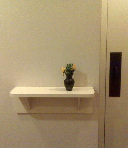 Bathroom Shelf with Flower